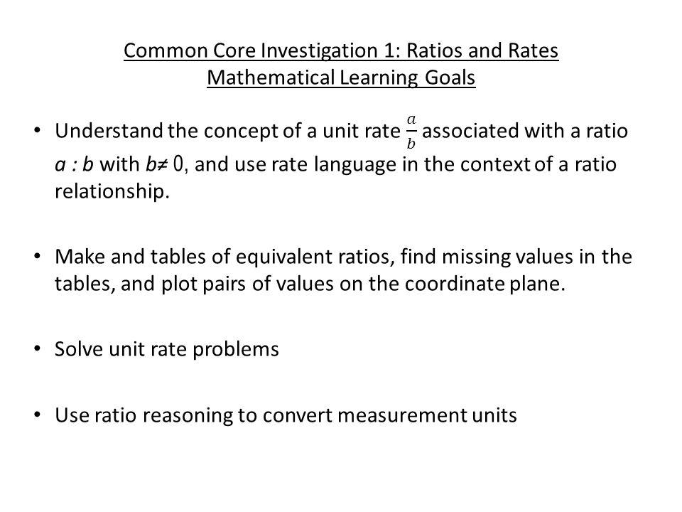 6th Grade Math Focus 1: Ratios, Rates & Proportions - ppt video ...