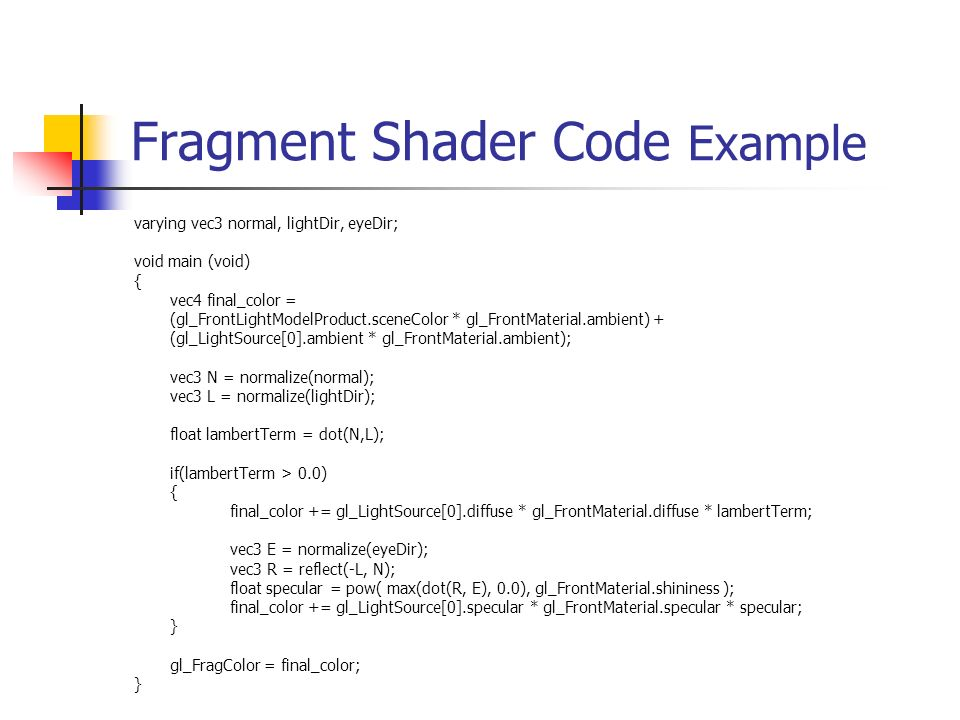 OpenGL Shading Language (GLSL) - ppt video online download