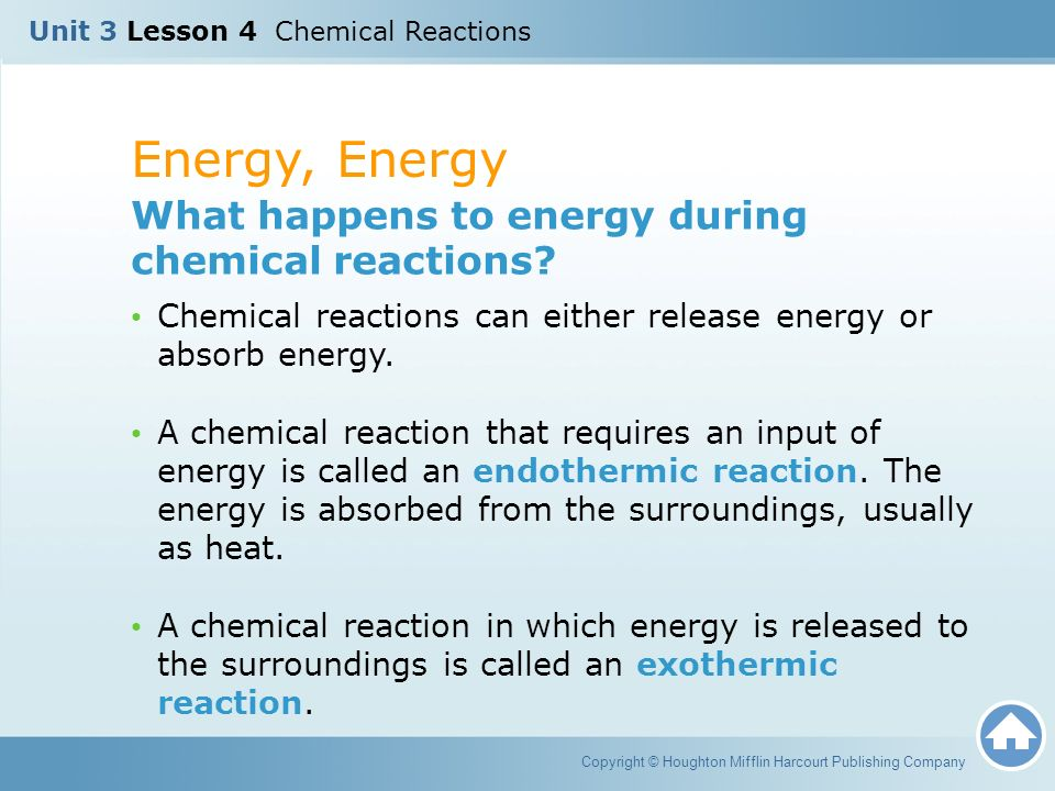 in a chemical reaction