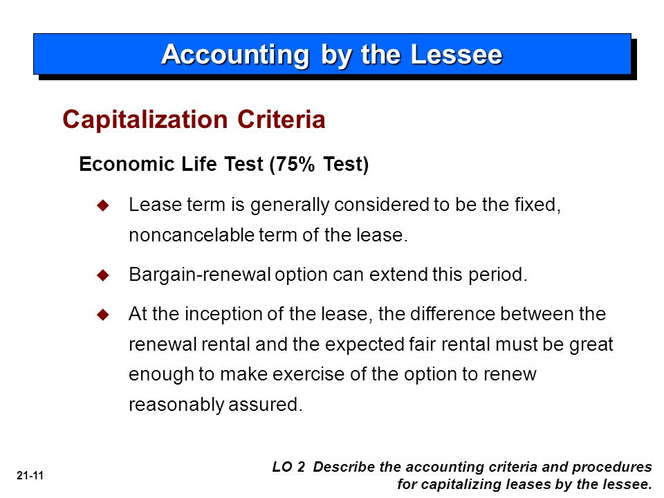 21 accounting for leases intermediate accounting ppt download