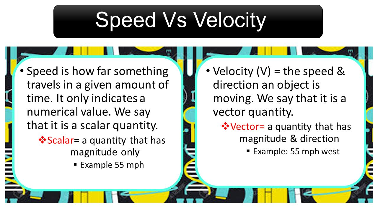Speed Vs Velocity