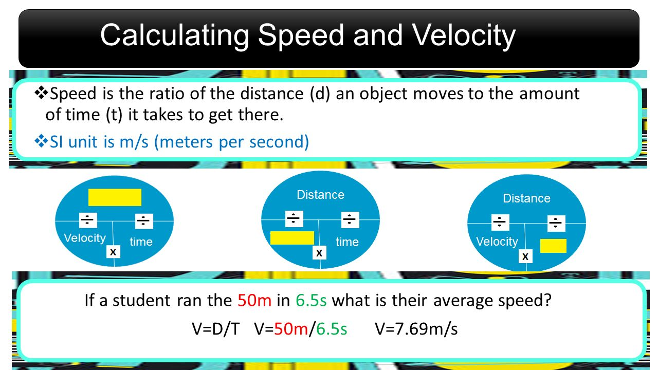 Calculating Speed and Velocity