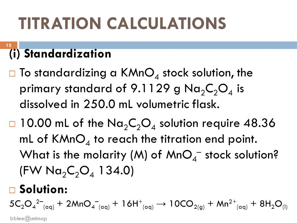 Classical methods in techniques of analytical chemistry: Titrimetric