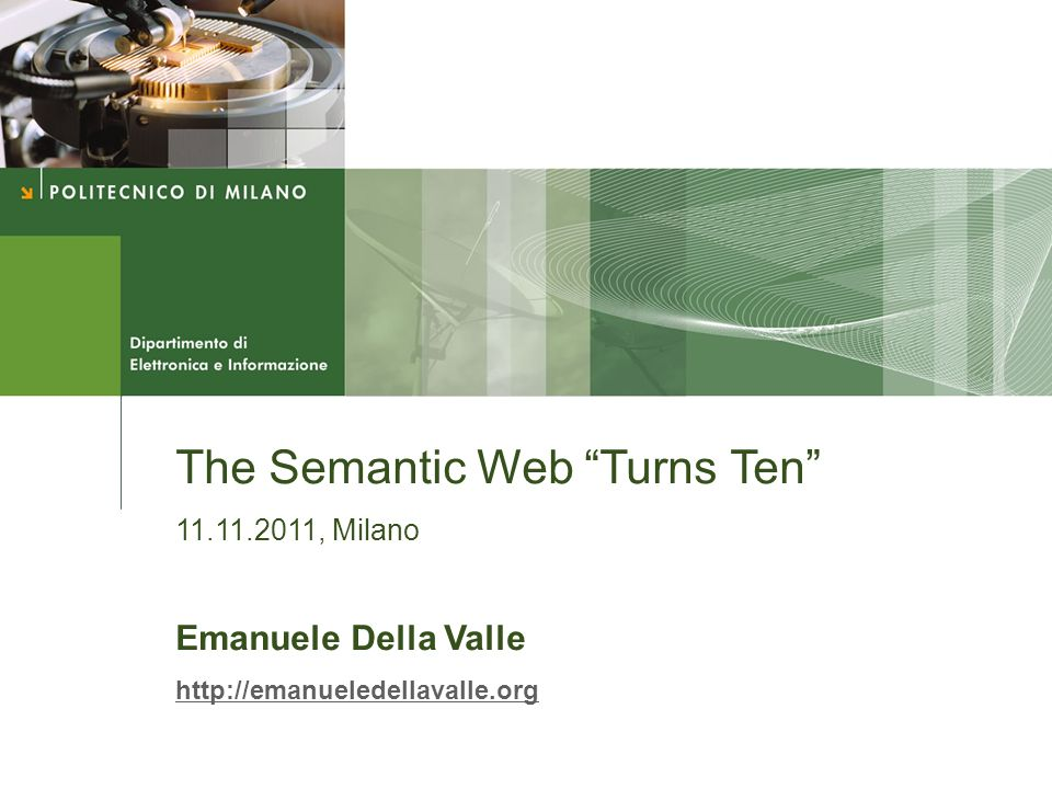 The Semantic Web Turns Ten