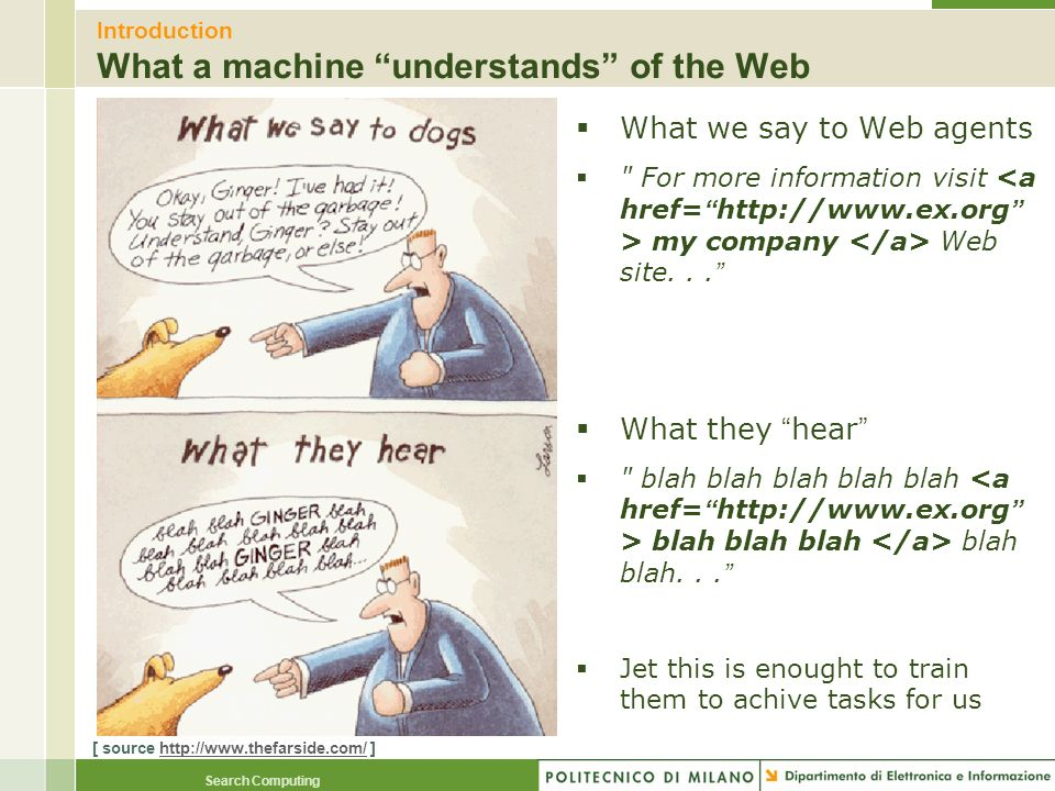 Introduction What a machine understands of the Web