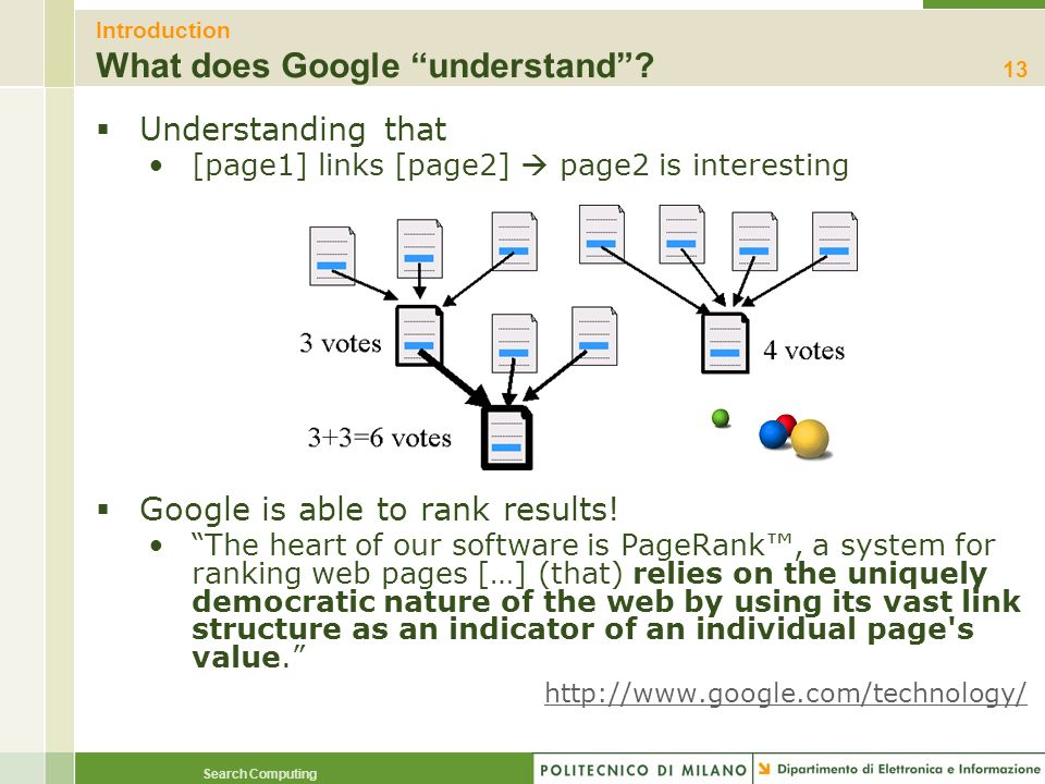 Introduction What does Google understand