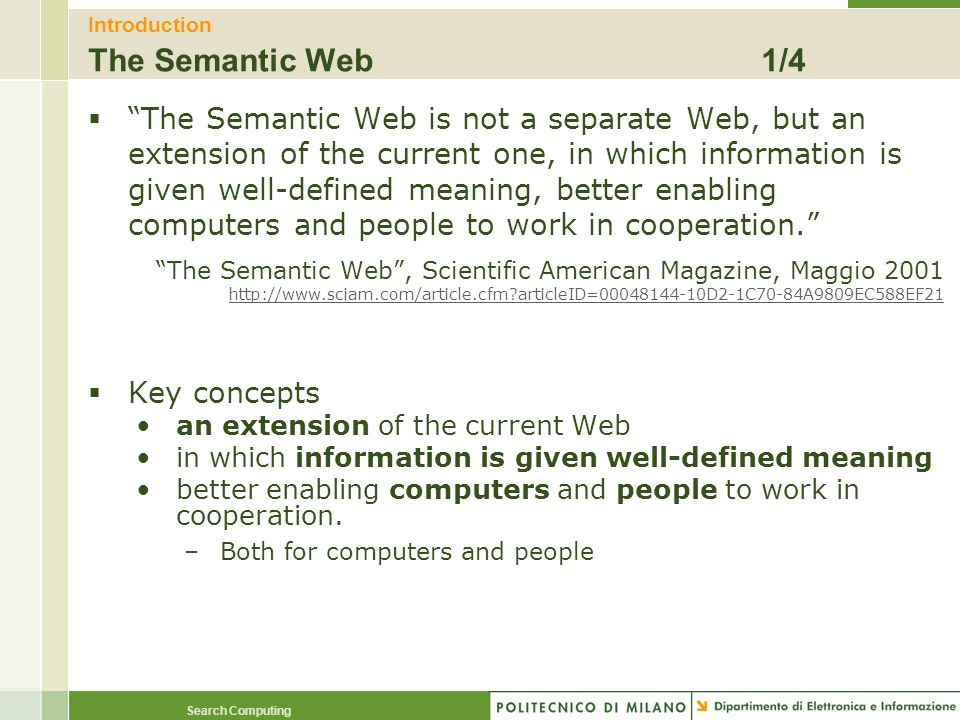 Introduction The Semantic Web 1/4