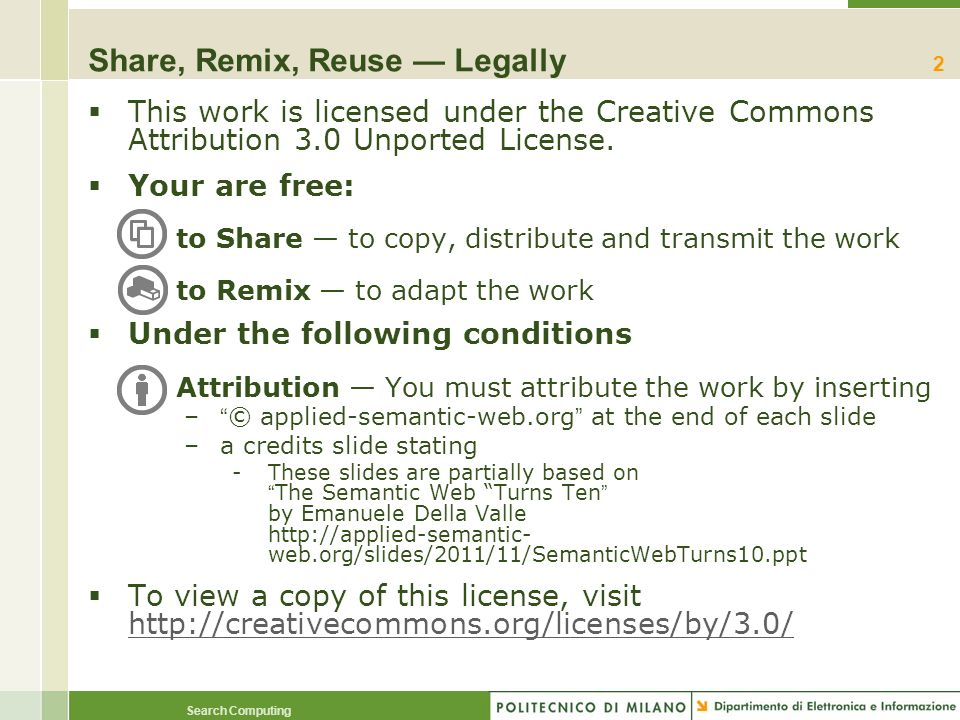 Share, Remix, Reuse — Legally