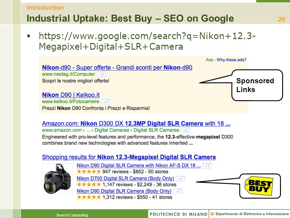 Introduction Industrial Uptake: Best Buy – SEO on Google