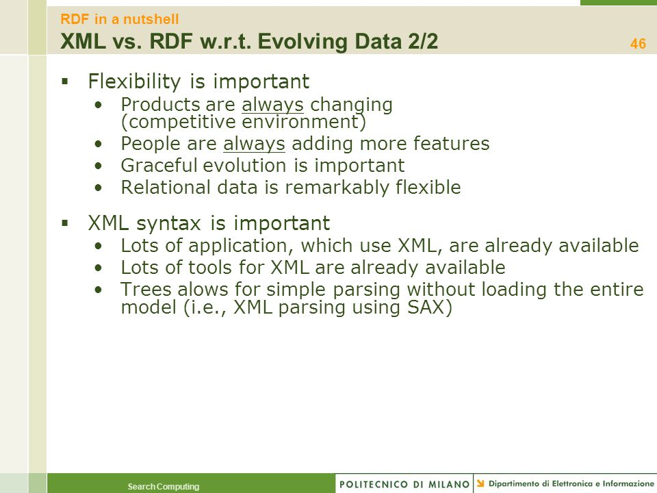 RDF in a nutshell XML vs. RDF w.r.t. Evolving Data 2/2