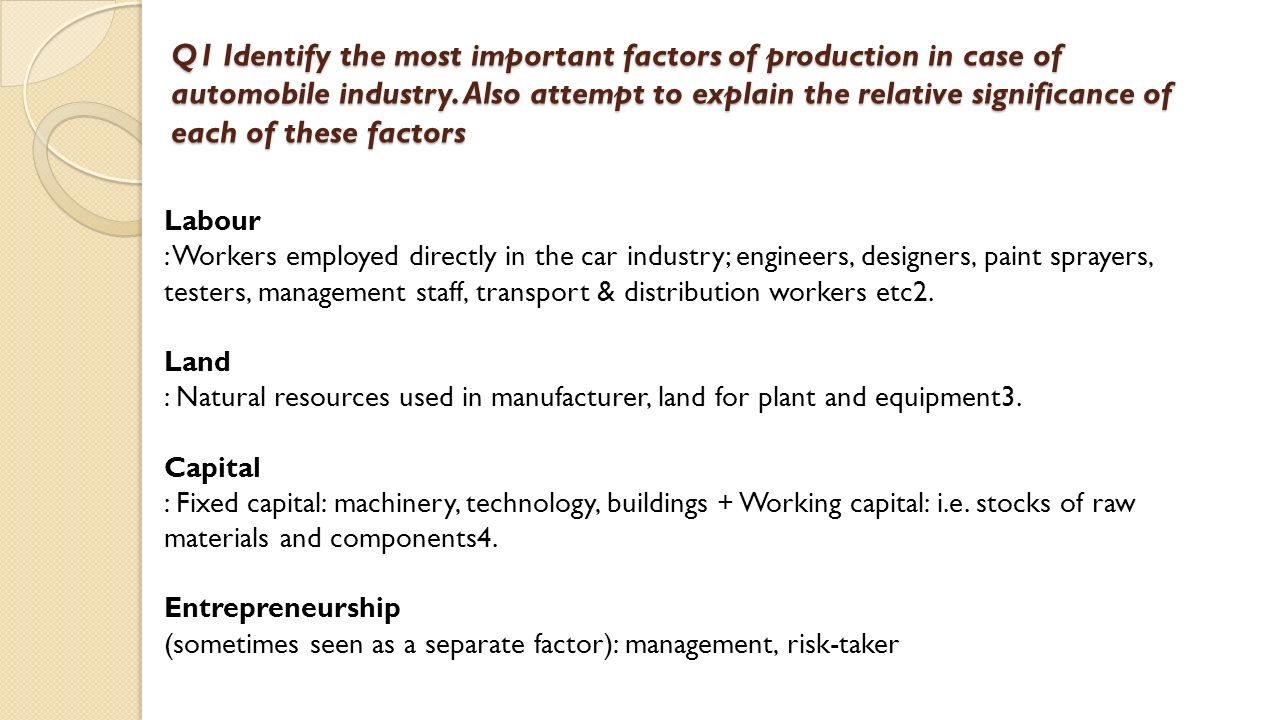 the most important factor of production