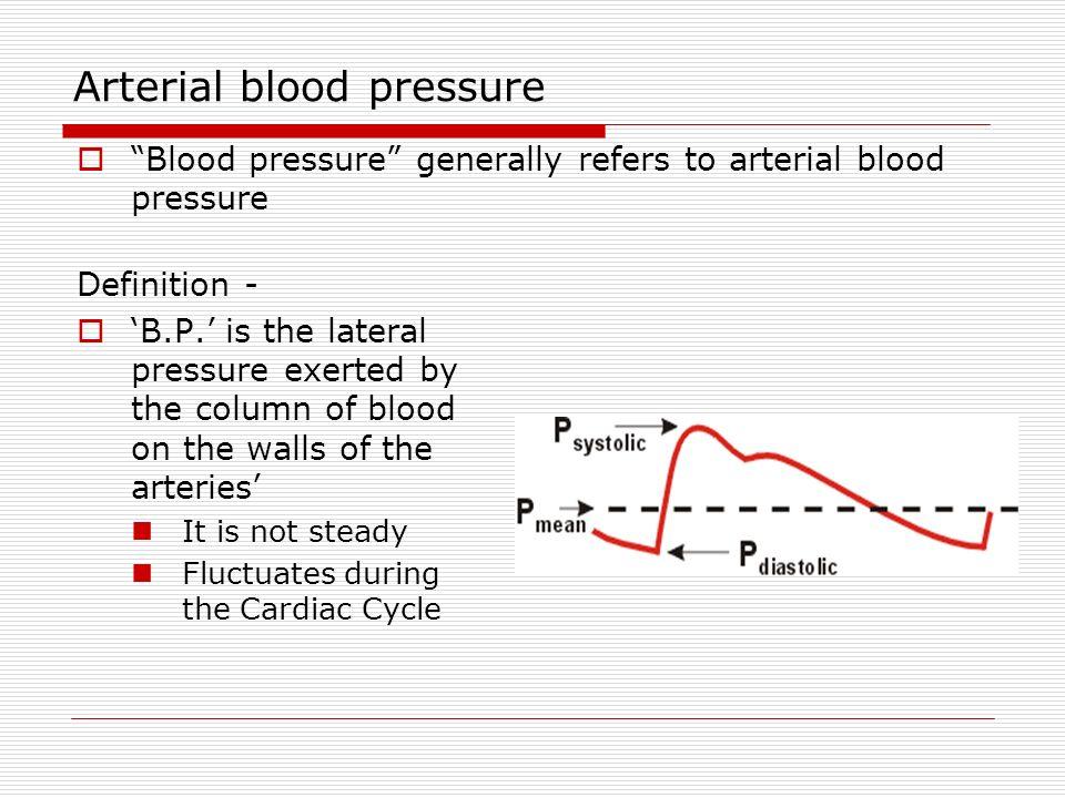 Arterial Blood Pressure Ppt Download