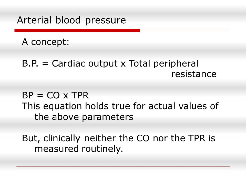Arterial Blood Pressure Ppt Download