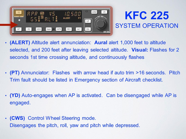 KFC 225 SYSTEM OPERATION
