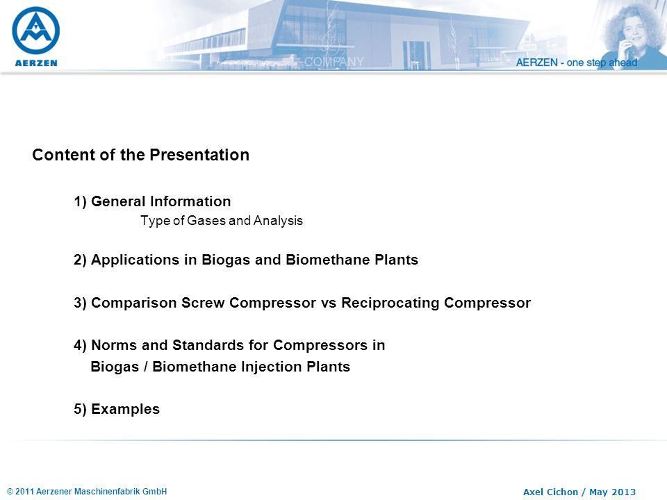 Compressors in Biogas / Biomethane - Plants - ppt video