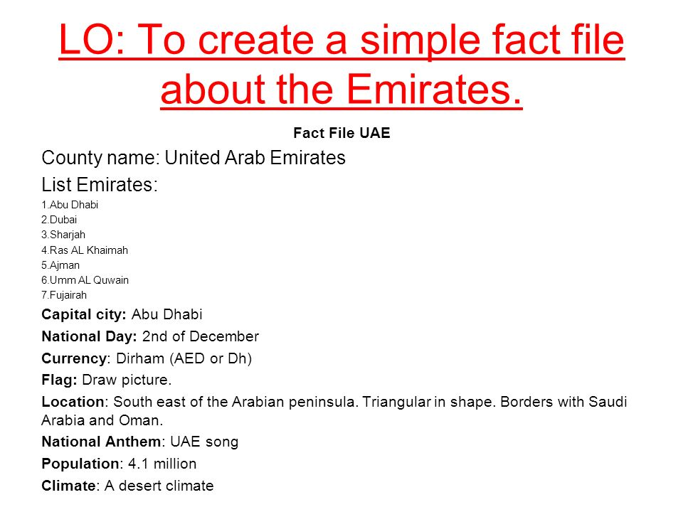 Geography: The UAE Week 11 Lesson ppt download
