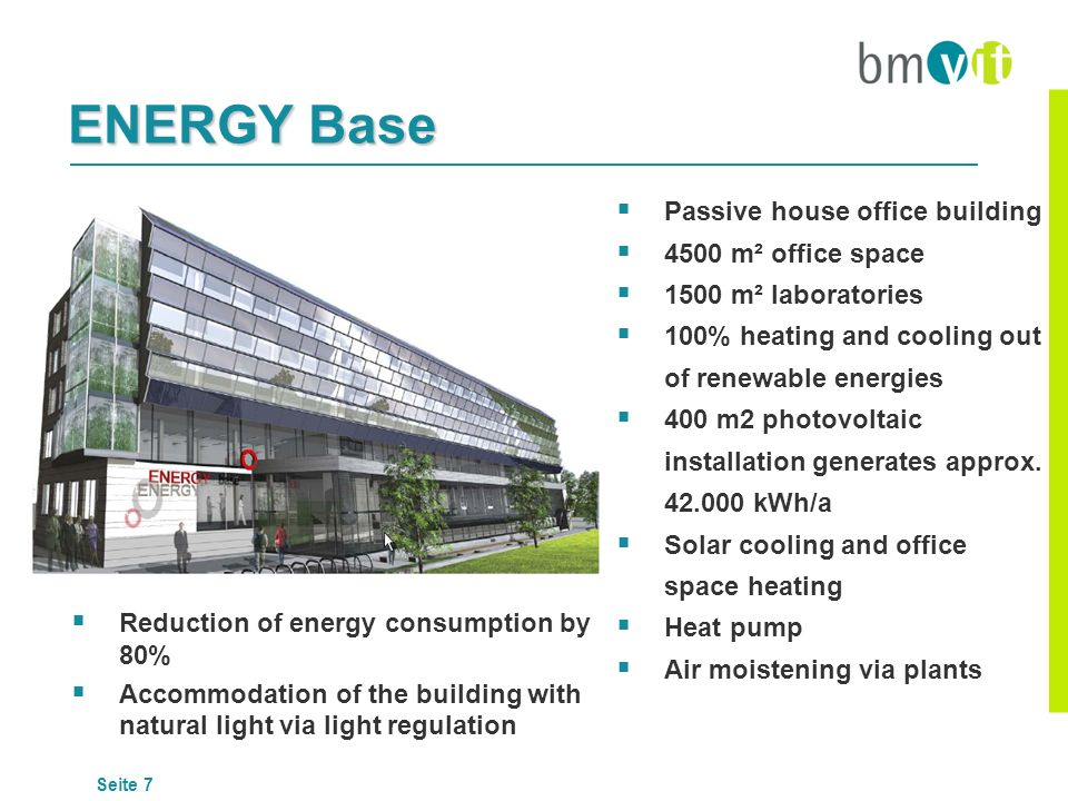 ENERGY Base Passive house office building 4500 m² office space