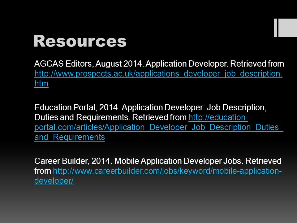 Mobile Apps Developer Job Description Mobile Apps And Devices