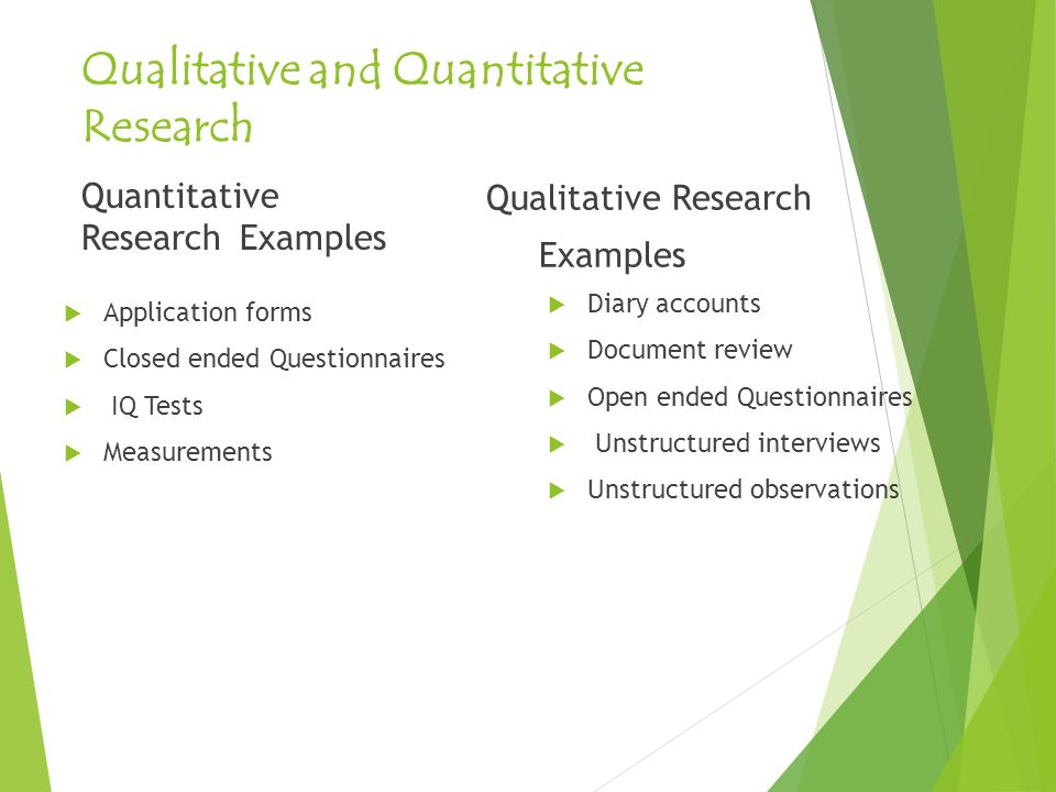 Qualitative And Quantitative Research Methods Ppt Download
