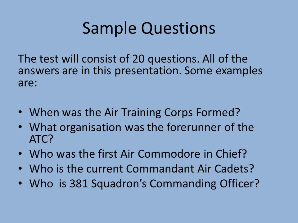 The air training corps ppt video online download 20 sample questions maxwellsz