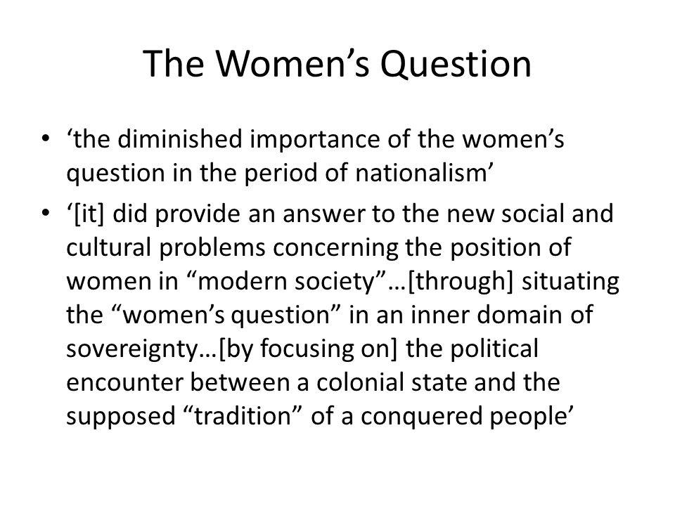 the women question