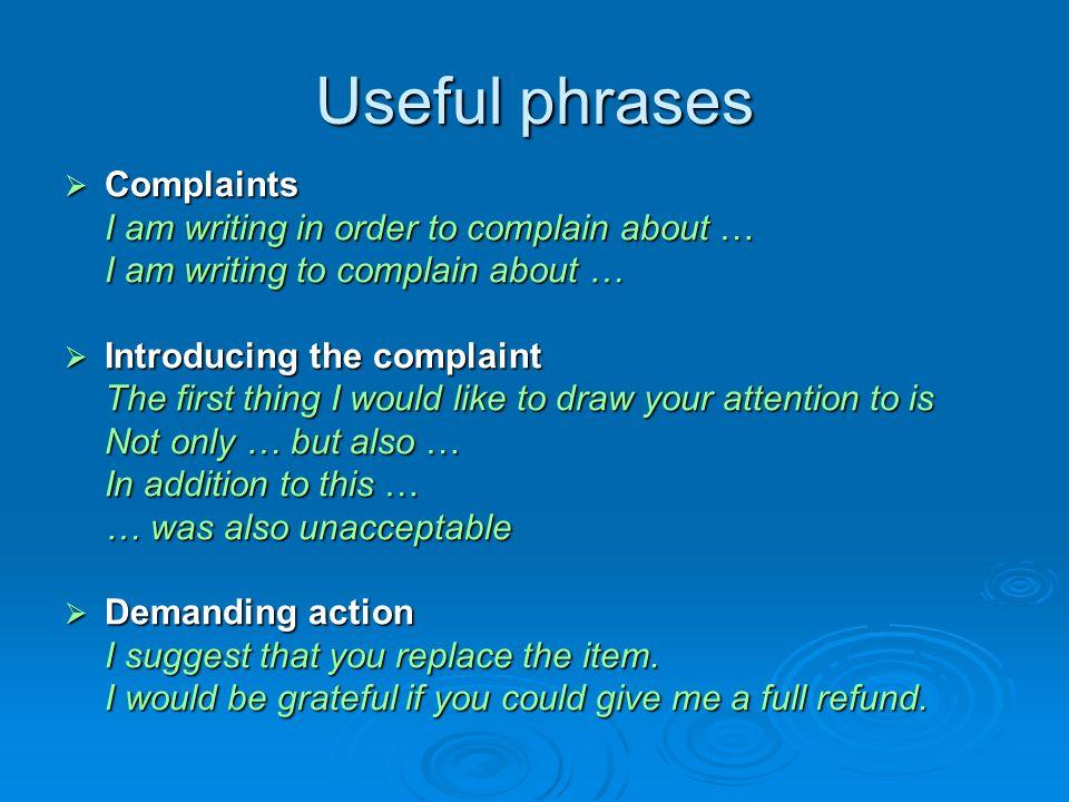 Letters writing guide mgr anna waligrska kotfas pwsz konin ppt 7 useful phrases complaints spiritdancerdesigns Image collections