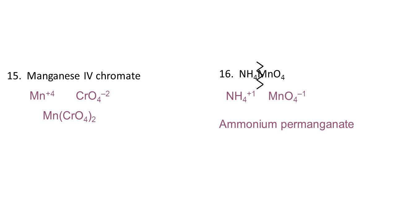 ammonium manganate