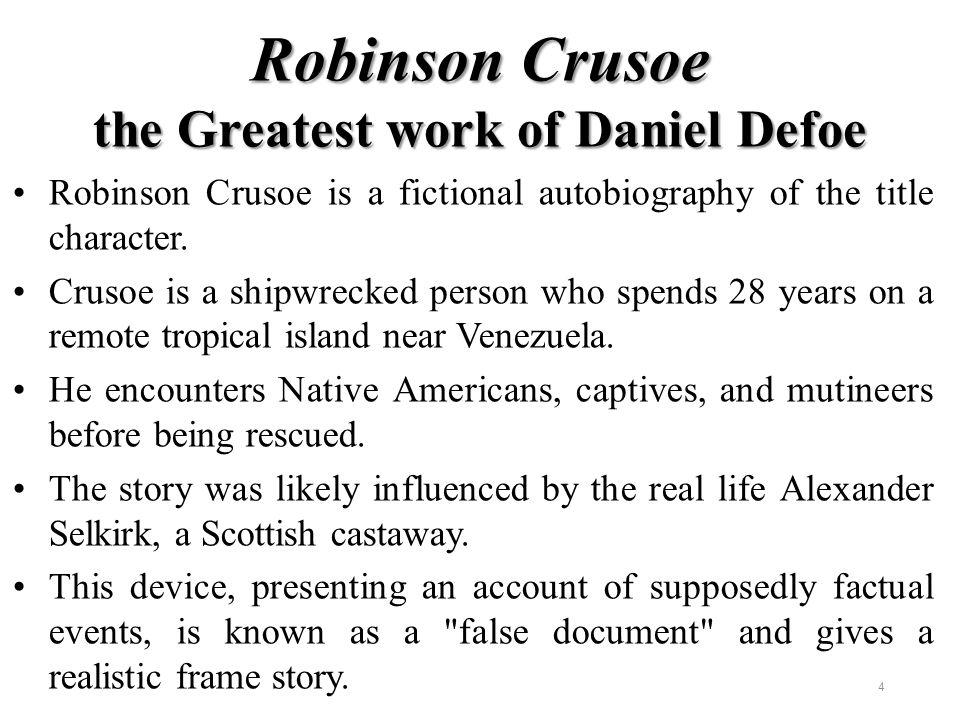 summary of robinson crusoe novel