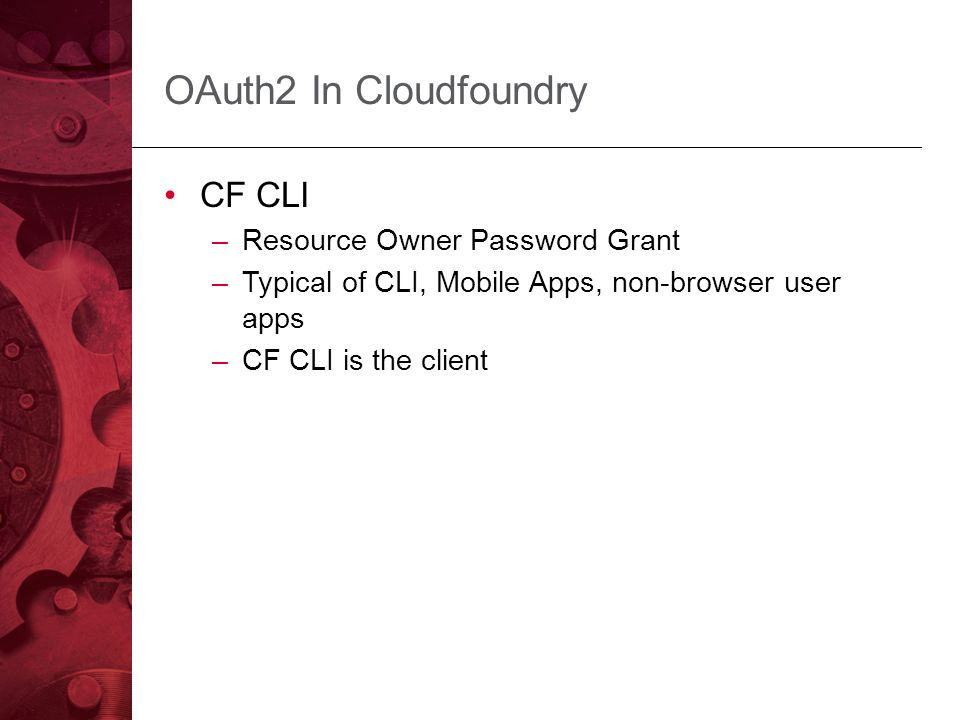 Enabling Cloud Native Security with Multi-Tenant UAA - ppt download