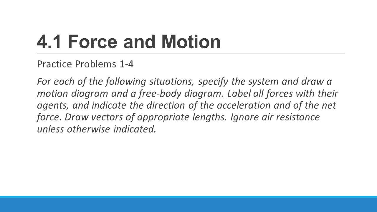 41 Force And Motion Essential Questions What Is A Ppt Diagrams Worksheet Answers On Drawing Free Body Practice Problems 1 4