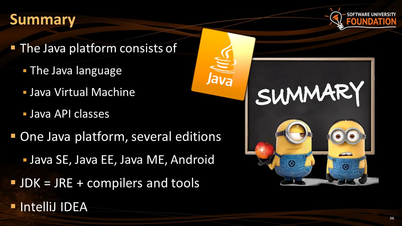 The Java Platform, The Java Language, JDK, IntelliJ - ppt