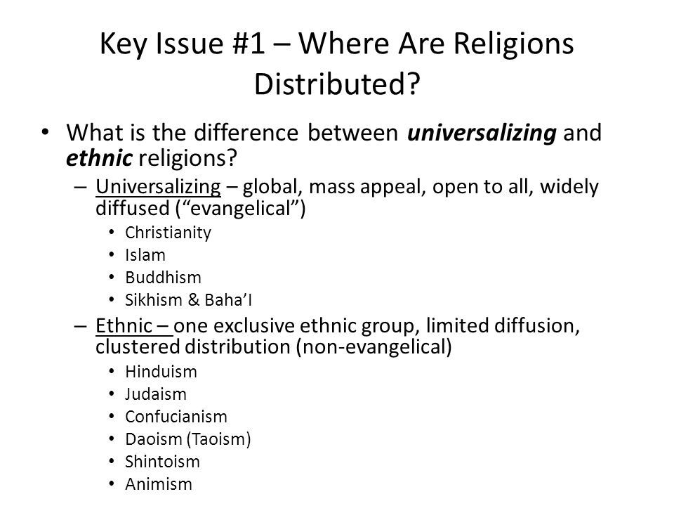 Ch 6 Key Issue 1 Where Are Religions Distributed Ppt