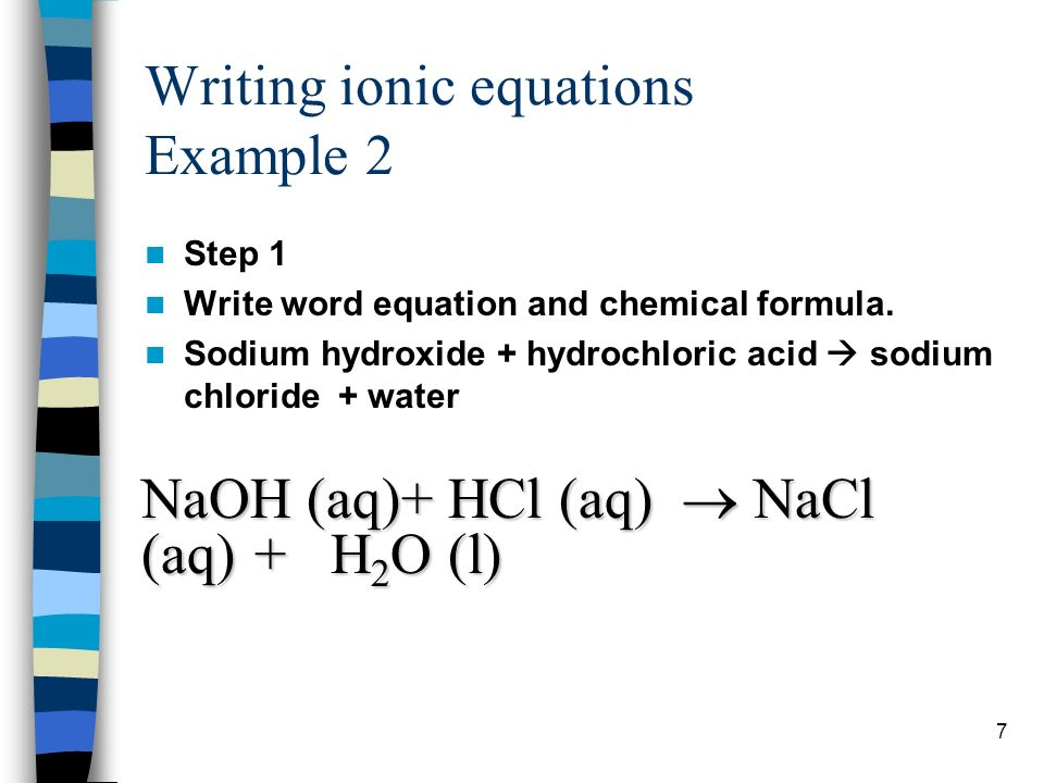 Ionic Equations A Chemical Equation Shows The Number Of Atoms And
