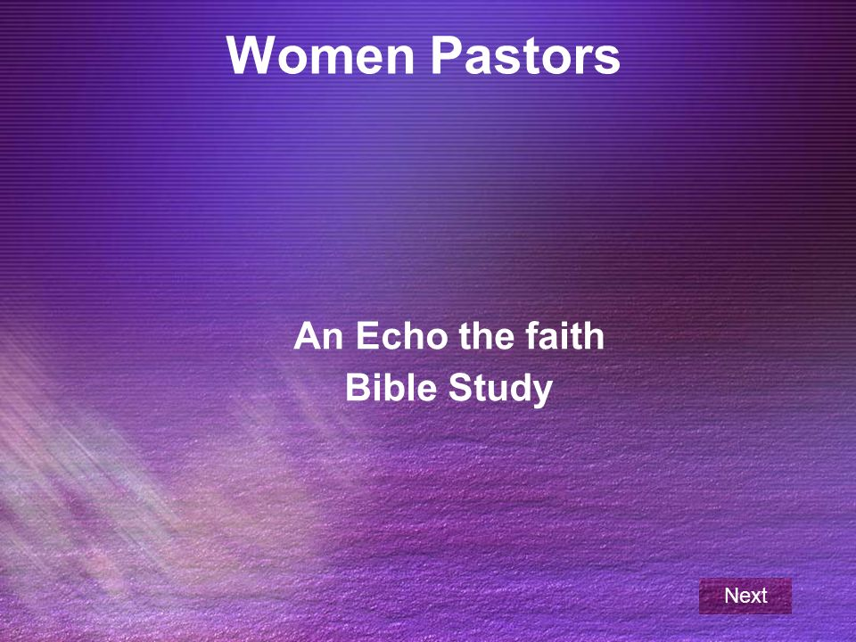 An Echo the faith Bible Study - ppt download