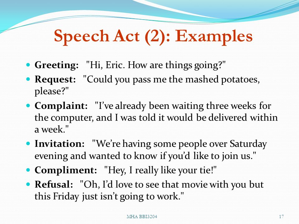 Ethnography of communication speaking ppt video online download 17 speech act 2 examples m4hsunfo