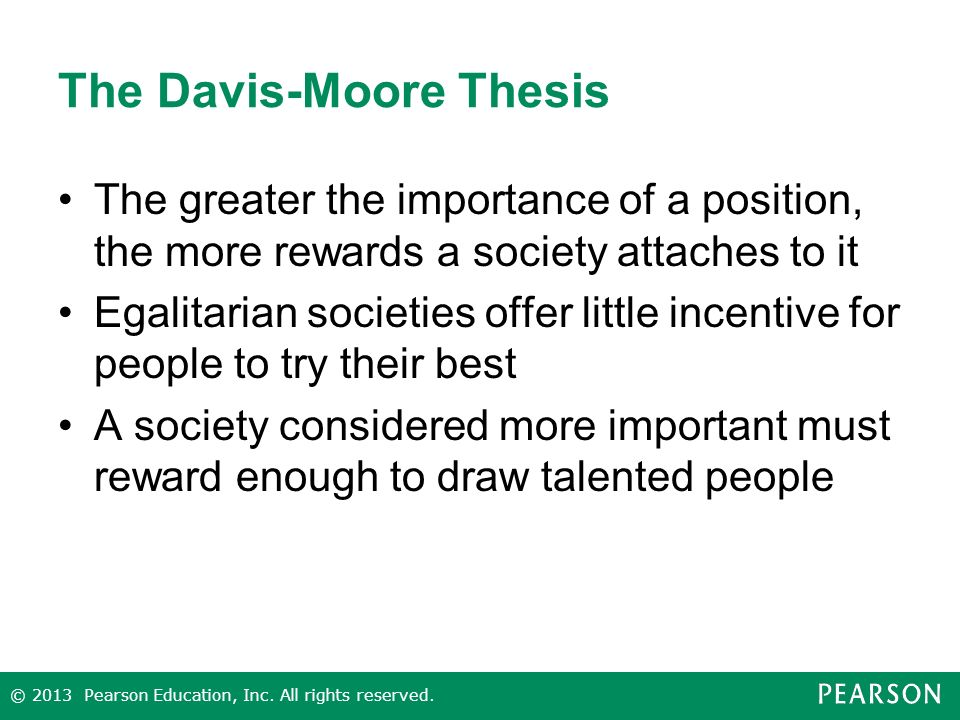 davis moore thesis meritocracy