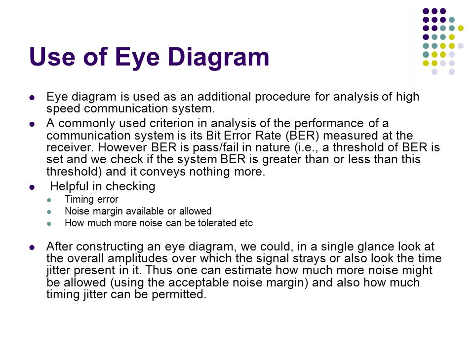 Isi causes and cures eye diagram means of viewing performance use of eye diagram eye diagram is used as an additional procedure for analysis of high ccuart Images