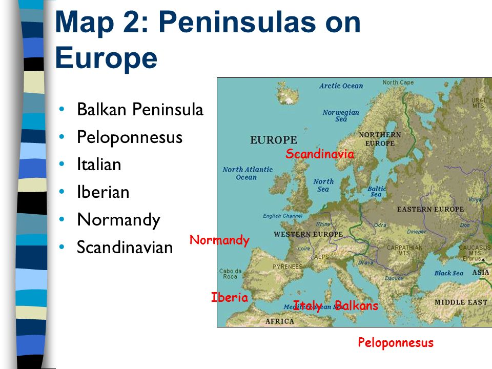 Peninsula In Europe Map.Bellringer 10 30 And 11 4 Write Down Or Discuss With Your Neighbors