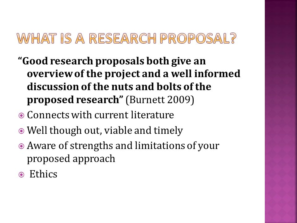 good research proposal example