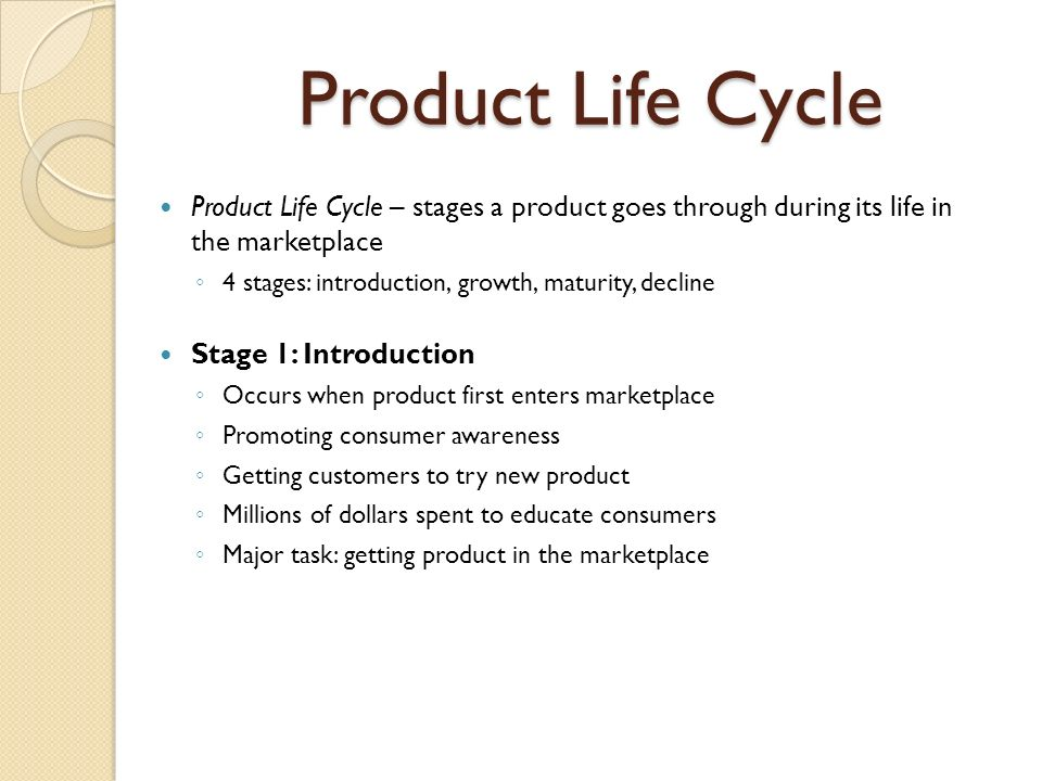 in the market introduction stage of the product life cycle
