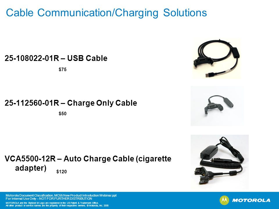 Cable Communication/Charging Solutions