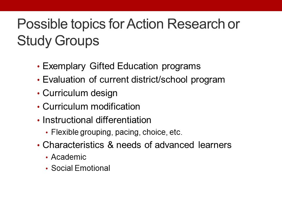 Planning Professional Learning to improve Gifted Education - ppt