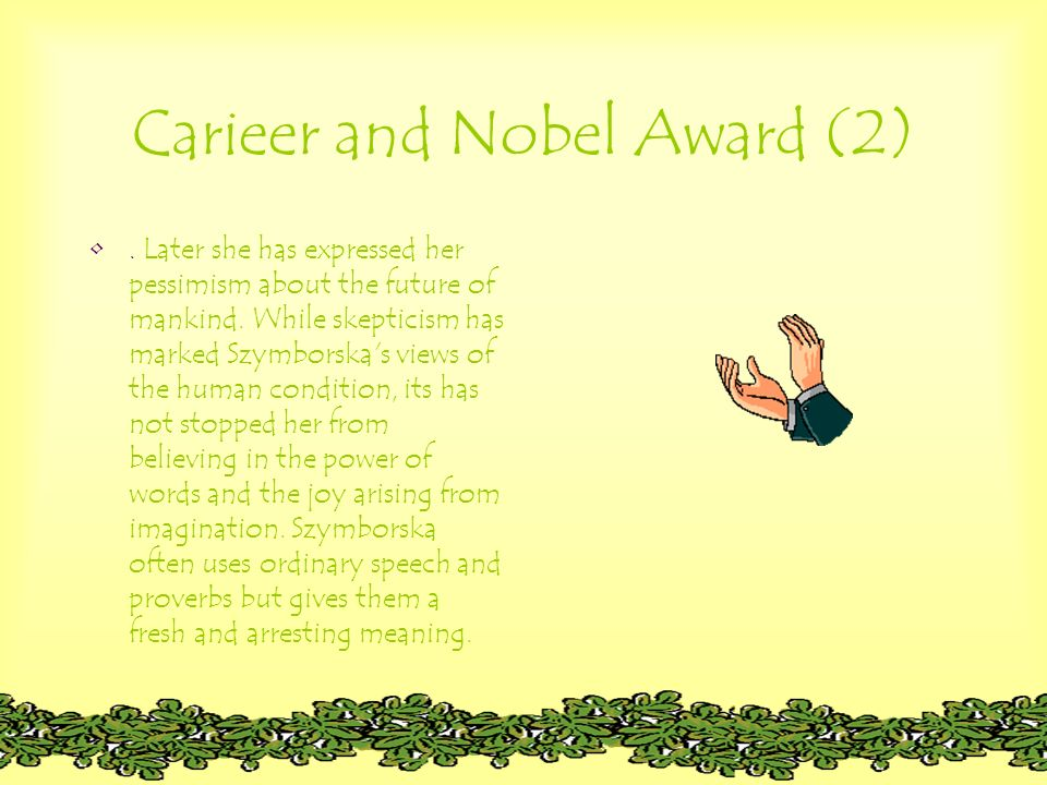 Carieer and Nobel Award (2)
