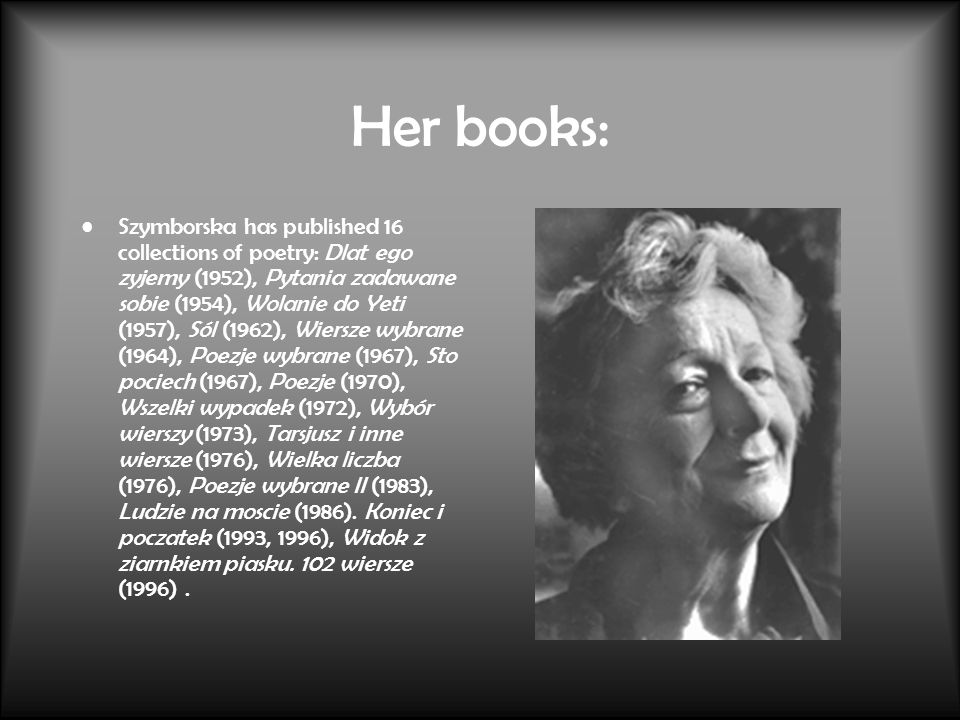 Her books: