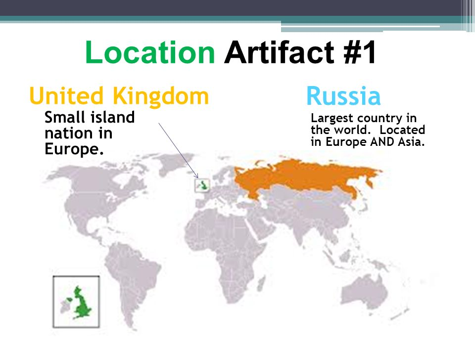 Location Artifact #1 Russia United Kingdom