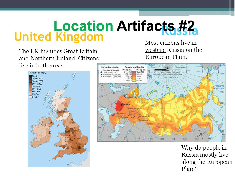 Location Artifacts #2 Russia United Kingdom