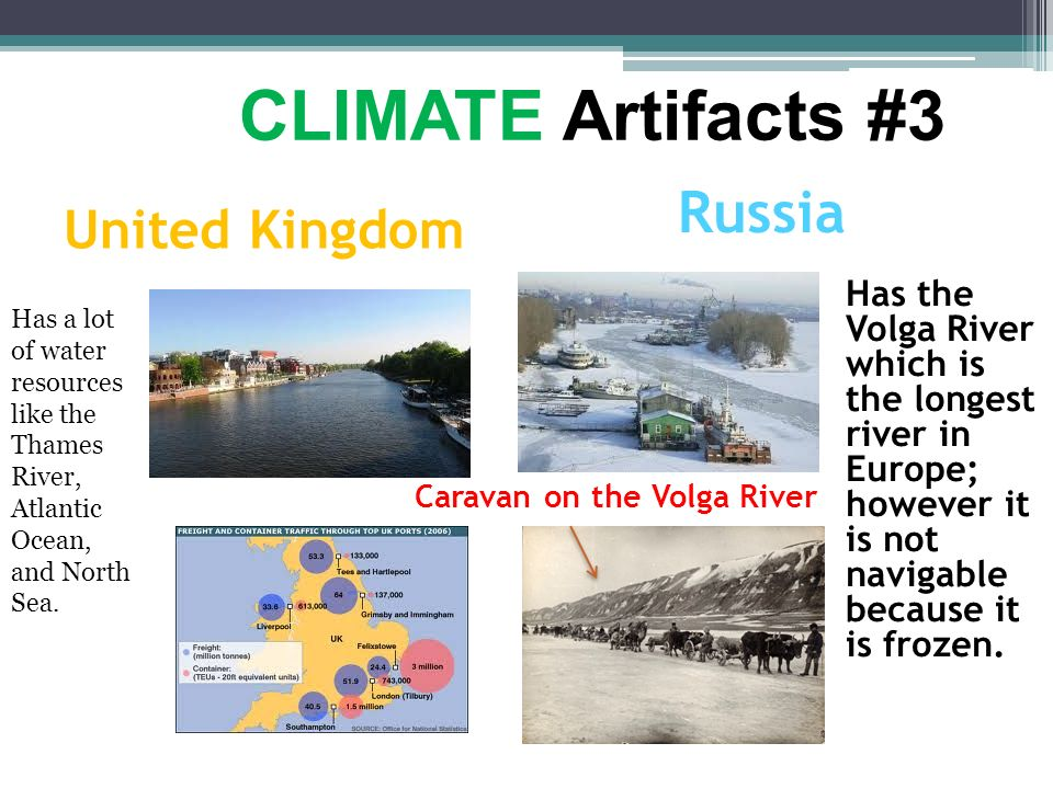 CLIMATE Artifacts #3 Russia United Kingdom