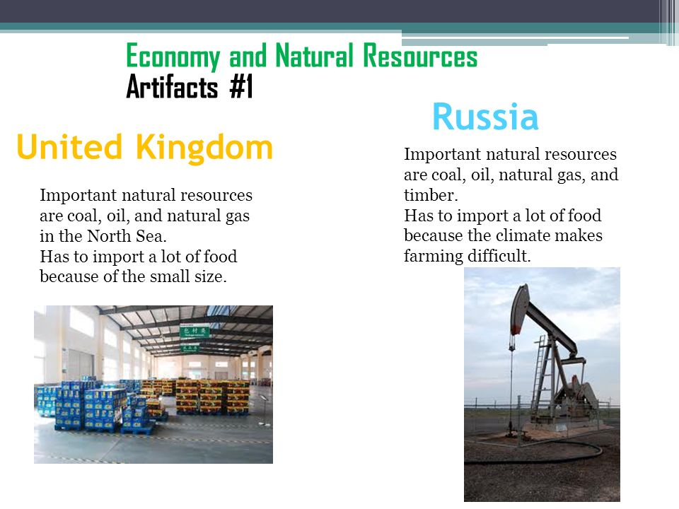 Russia United Kingdom Economy and Natural Resources Artifacts #1