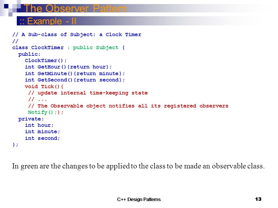 Model View Controller Architectural Pattern and Observer