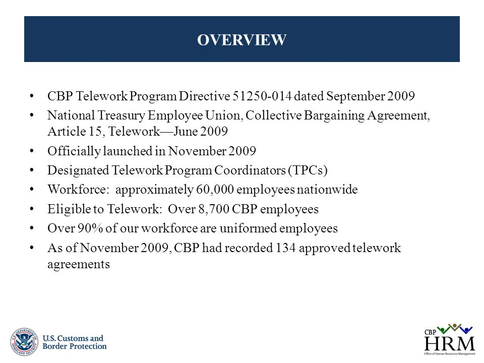 Us Customs And Border Protection Telework Program May Ppt Video